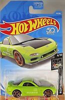 2018 Hot Wheels #114 Nightburnerz 4/10 '95 MAZDA RX-7 Lime w/Gold Pr5 Spoke Whl