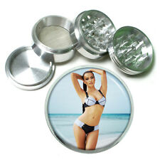 """French Pin Up Girls D3 Aluminum Herb Grinder 2.5"""" 63mm 4 Piece"""