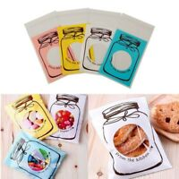 100pcs Self Adhesive Candy Bags Plastic Cookie Gift Bag Wedding Party Supplies