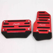 2x Racing Sport Non-Slip Aluminum Automatic Car Pedals Pads Cover Universal Fit