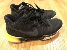 Nike Kyrie Irving 3 Black & Yellow 852395-901 Men's Size 8 Basketball Shoes Flaw