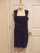 NWT $138 JONES OF NEW YORK TIERED OCCASION MIDNIGHT purple DRESS SIZE 8