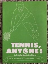 Vintage 1974 Tennis Introduction to the Game Brochure
