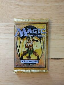 Magic The Gathering 5th Edition SEALED Booster Pack NO RESERVE 1997 Fifth MtG