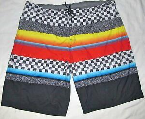 New Roundtree & Yorke Checkered Lined BoardShorts Swim Shorts Mens Size 3XT 46