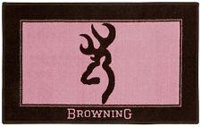 Browning Pink & Brown Rug Bath Mat, Buckmark Logo