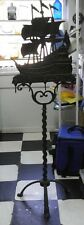 Brass Or Iron 2 Pc Nautical Tall Sailing Ship Fireplace Holder 1920'S 001351010