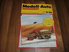 MODELL-AUTO 11/1986 -- Puch-Pinzgauer-Typengeschichte / THW-Sattelzug-Oldtimer