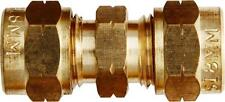 1/4 de pulgadas Recto De Bronce Tubo de acoplamiento (completo con aceitunas) - Paquete De 1