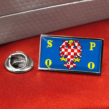 Olomouc Czech Republic Flag Lapel Pin Badge / Tie Pin