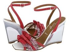 Miss Sixty POLIANA Fuchsia Wedge Woman Shoes Sz 37 Eu/7