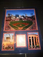 Baseball Firsts at Busch Stadium Highlights Unframed Picture