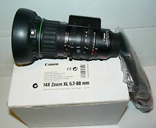 OBJECTIF CANON 14X ZOOM XL 5.7-80 MM COMME NEUF
