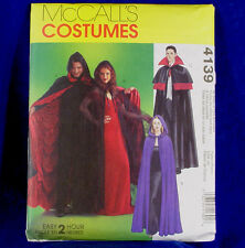 McCall's 4139 SEWING PATTERN Unisex Vampire Capes Cloaks Costume All Sizes NEW