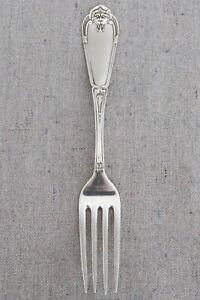"""Antique 1869 Vanderslice San Francisco Coin Sterling Silver Gargoyle Fork 7"""""""