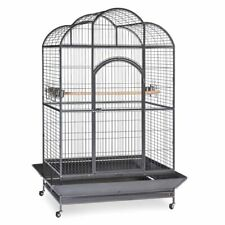 Silverado Macaw Dome Top Cage Large Bird Cage Black Wheels Feeders Perch