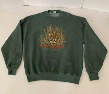 Russell Jerzees Ducks Unlimited Deer Hunting Green Vintage Mens Large Sweatshirt