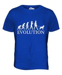 Napolitana Mastín Evolution Of Man Parte Superior el Hombre Camiseta Tee Perro