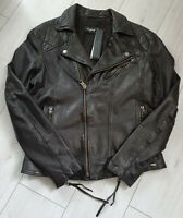 Tigha Lederjacke im Biker-Look Schwarz Sheep Leather Gr. XL UVP 399€
