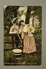 R&L Postcard: Comic, Scottish Lovers, Pitchfork Drum, Millar & lang 1907
