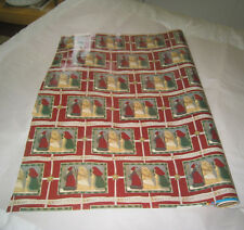 Vtg Roll of Gift Wrapping Paper Opened Merry Christmas Wise Men Stars R