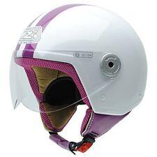 Nzi 150251g325 Vintage II Classic White/pink Casco da Moto Bianco/rosa Taglia