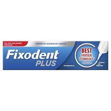 Fixodent Plus Dual Premium Essen Dichtung Zahnersatz Selbstklebend Creme, 10x