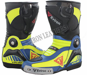 VR Motorcycle Motorbike Leather Boots Racing Waterproof shoes