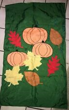 Autumn Fall Thanksgiving Outdoor Flag Pumpkins Leaves 56 X 33 Inch nice @