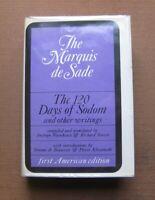 THE 120 DAYS OF SODOM by The Maquis de Sade - 1st US edition HCDJ Grove 1966