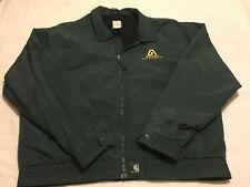 Mens Carhartt XL 2XL Green Thin Lined Full Zip Light Coat Jacket