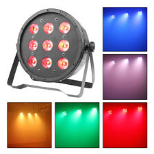 50W 9LED Par Can Lamp RGBW 7/5CH Uplighting Strobe DJ Show Disco Stage Lighting