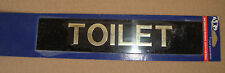 TOILET  Stick on sign 200mm x 40mm RAISED GOLD/BRASS LETTERS free post