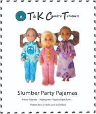 """Sewing Pattern for Chelsea 5.5"""" Barbie Doll Clothes TKCT Slumber Party Pajamas"""