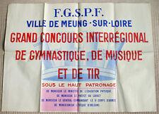 Affiche ancienne 1935 CONCOURS GYMNASTIQUE Meung-sur-Loire Sport Vintage Poster