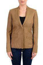 Versace Women's Silk Brown Two Button Blazer US XS IT 38