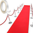 Red Carpet Runner Runway Rug 55gsm Thickness with 1 Piece Carpet Tape for Xmas x