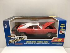 Tootsietoy Hard Body 1969 Dodge Charger R/T 440 Magnum Die cast Car Red/White