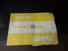 1981 Suzuki GS450E GS450 GS 450 Owner's Manual 64 Pages 99011-44122-03A