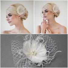 Braut Haarschmuck Haarblume Fascinator Blüte Blume Netz Haargesteck Hochzeit