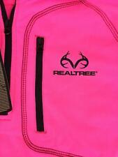 Pink Realtree Women's Jacket Small NWT Fluorescent Quarter Zip Thumbholes