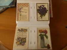 More details for 200 x  vintage greetings postcards in a modern album