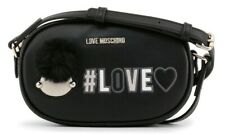 LOVE MOSCHINO Women's CROSSBODY Bag BLACK Faux Leather + Dustbag AUTHENTIC
