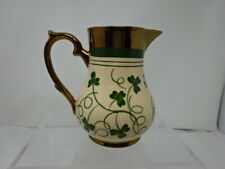 WADE POTTERY WATER JUG CLOVER  & GOLD HAND PAINTED  -