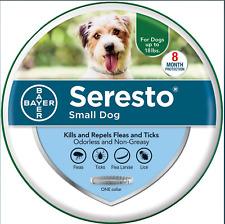 "Bayer Seresto Flea & Tick Collar For Dogs Small Dog 15"" Collar (up to 18 lbs)"