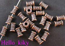 200 pcs Antiqued copper plt barrel spacer beads A292