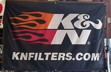 New K&N Filters Flame Flag Shop Garage Banner 4ft x 6ft
