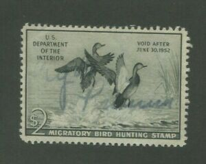 1951 US Federal Hunting Permit Duck Stamp #RW51 Used F/VF Faded Pen Cancel