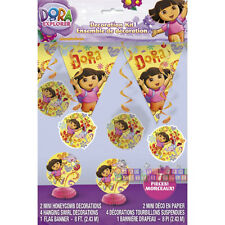 DORA THE EXPLORER DECORATION KIT (7pc) ~ Birthday Party Supplies Banner Nick Jr