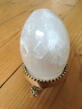 Mozzafiato!! Selenite Cristallo UOVO Gemstone SATIN SPAR Healing wicca pagane New Age